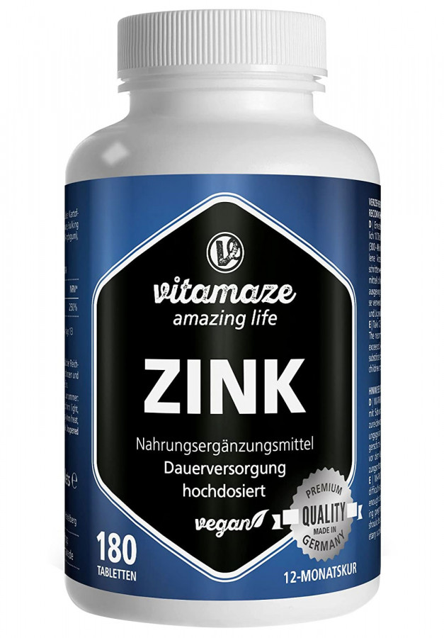 Цинк 25 мг Vitamaze, 180 таблеток