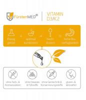 Комплекс витаминов D3 (1000 ME) + K2 FürstenMED, 50 мл