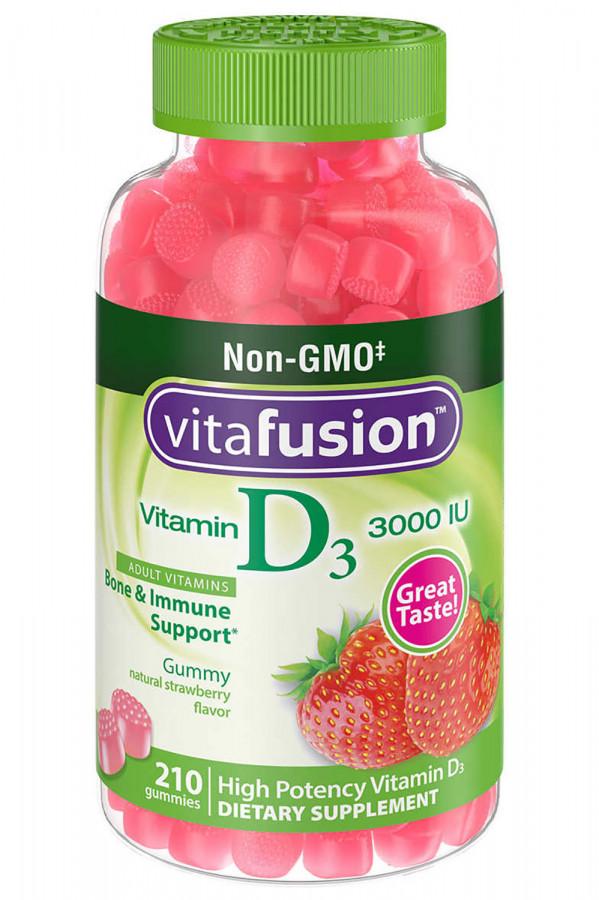 Витамин D3 3000 Vitafusion, 210 жевательных таблеток