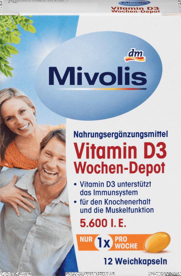 Витамин D3 5600 МЕ, недельная дозировка, Mivolis, 12 порций