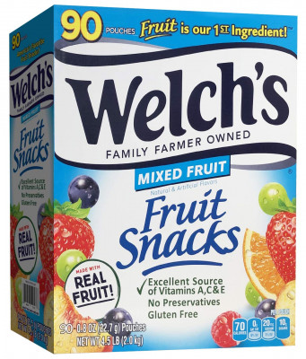 Welch's Fruit Snacks, Mixed Fruit, 90-count