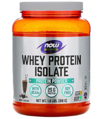 Изолят сывороточного протеина со сливочно-шоколадным вкусом NOW Sports, 816 г