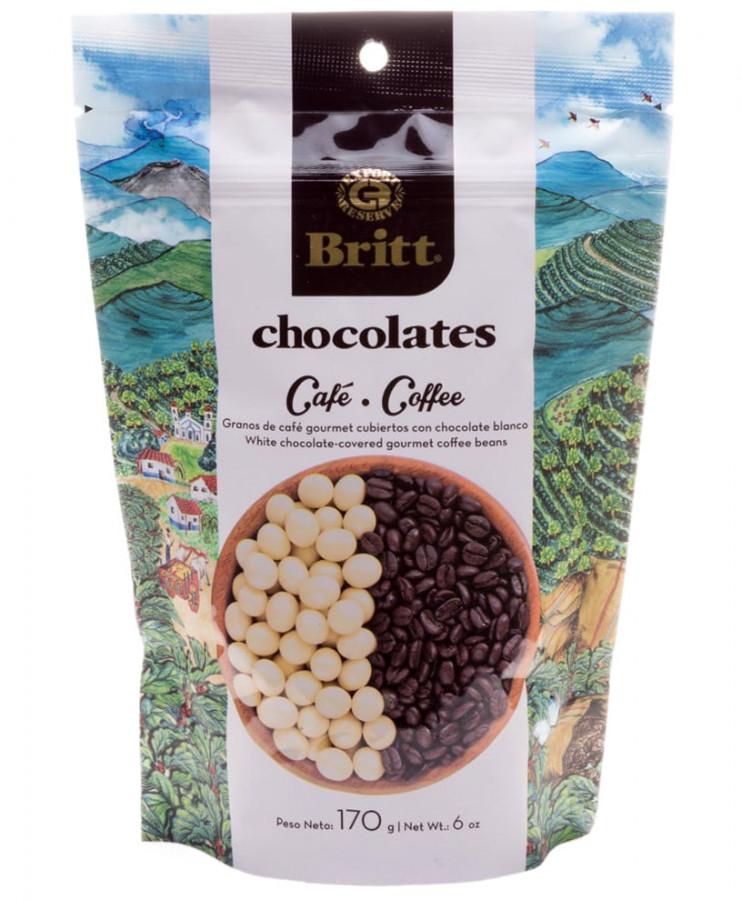 Кофейные зерна в белом шоколаде Britt ,170 г