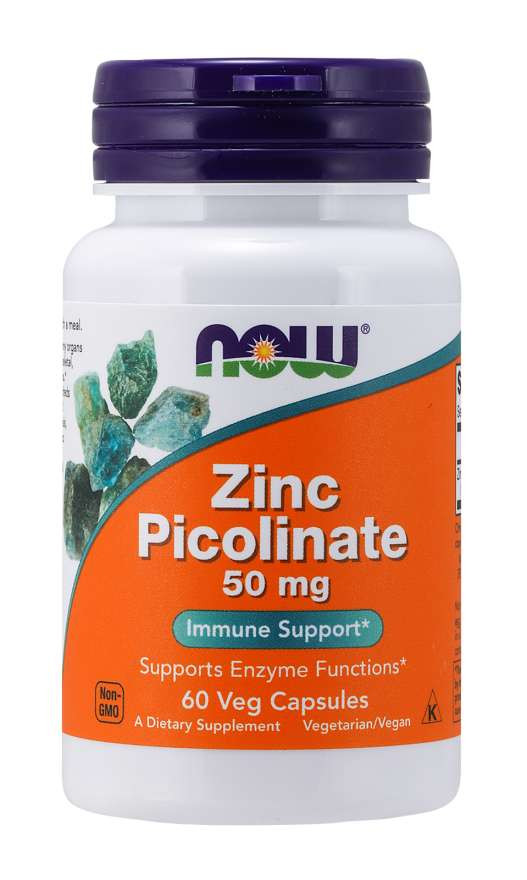 Zinc Picolinate 50 mg Veg NOW, 60 Capsules