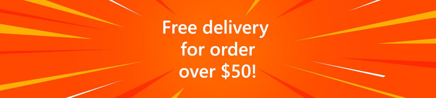 Бесплатная доставка при заказе от $50!